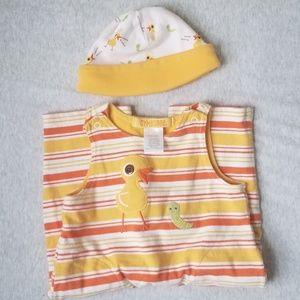 Striped Yellow Cotton Romper